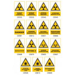 Panneau Signalisation produits dangereux risque ionisant