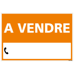 PANNEAU IMMOBILIER A VENDRE AKYLUX 3,5mm - 600x400mm - LIVRE AVEC UNE PLANCHE DE CHIFFRE (G1323)
