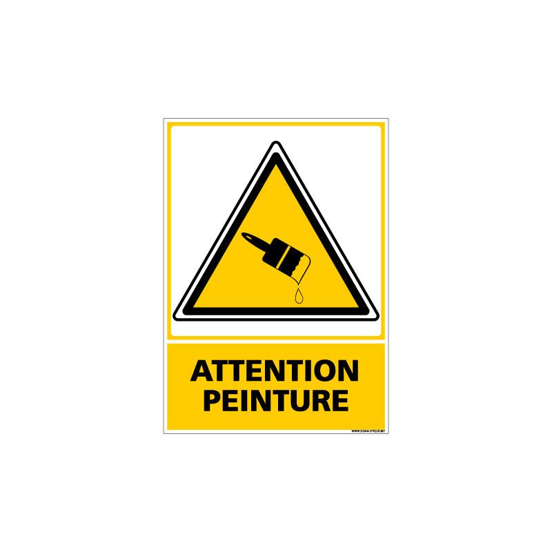 PANNEAU ATTENTION PEINTURE (C0536)