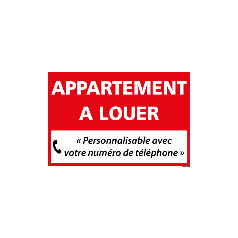 PANNEAU IMMOBILIER APPARTEMENT A LOUER A PERSONNALISER AKYLUX 3,5mm - 600x400mm (G1324_PERSO)