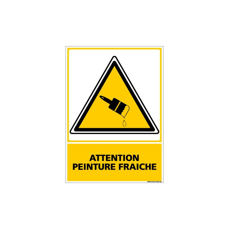 PANNEAU ATTENTION PEINTURE FRAICHE (C0537)