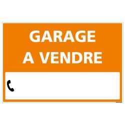 PANNEAU IMMOBILIER GARAGE A VENDRE AKYLUX 3,5mm - 600x400mm - LIVRE AVEC UNE PLANCHE DE CHIFFRES (G1335)