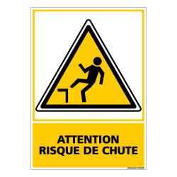 Panneau ATTENTION RISQUE DE CHUTE (C0548)