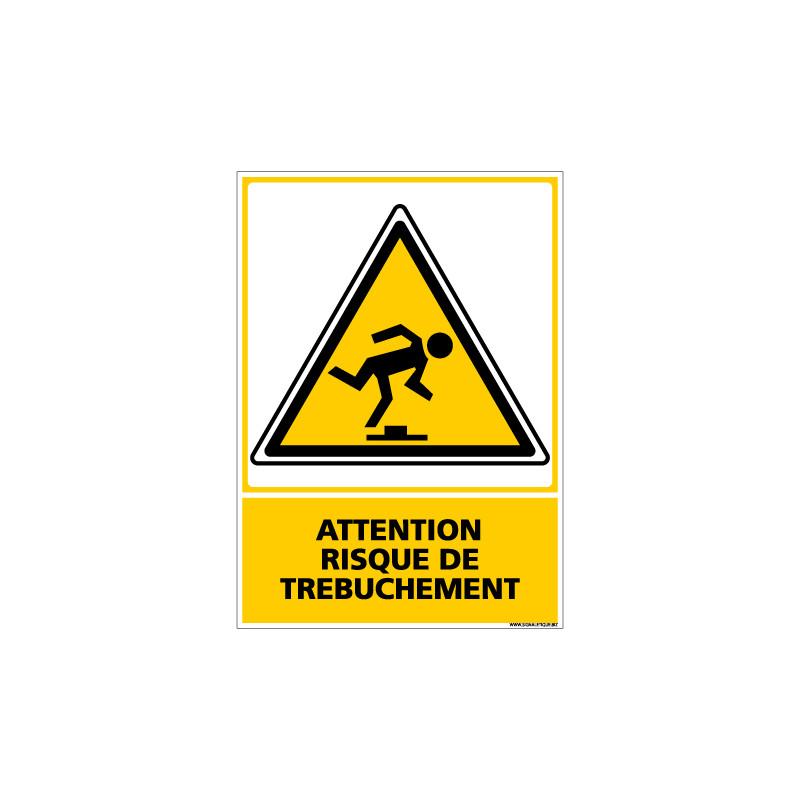 Panneau ATTENTION RISQUE DE TREBUCHEMENT (C0549)
