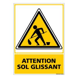 Panneau ATTENTION SOL GLISSANT (C0550)