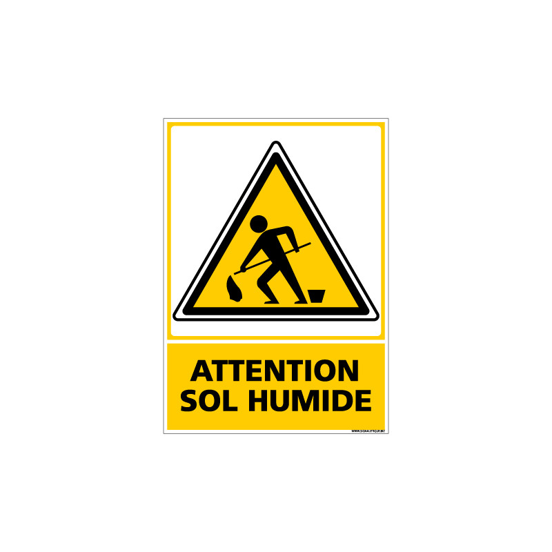 Panneau ATTENTION SOL HUMIDE (C0551)