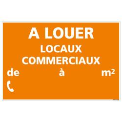 PANNEAU LOCAUX COMMERCIAUX A LOUER AKYLUX 3,5mm - 600x400mm - LIVRE AVEC UNE PLANCHE DE CHIFFRES (G1344)