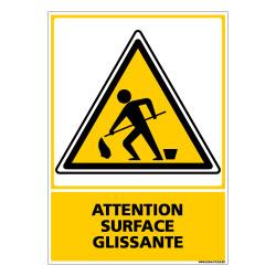 Panneau ATTENTION SURFACE GLISSANTE (C0553)