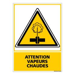 Panneau ATTENTION VAPEURS CHAUDES (C0557)