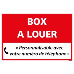 PANNEAU IMMOBILIER BOX A LOUER A PERSONNALISER AKYLUX 3,5mm - 600x400mm (G1354_PERSO)