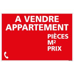 PANNEAU APPARTEMENT A VENDRE (AVEC INFOS) AKYLUX 3,5mm - 600x400mm - LIVRE AVEC UNE PLANCHE DE CHIFFRES (G1357)