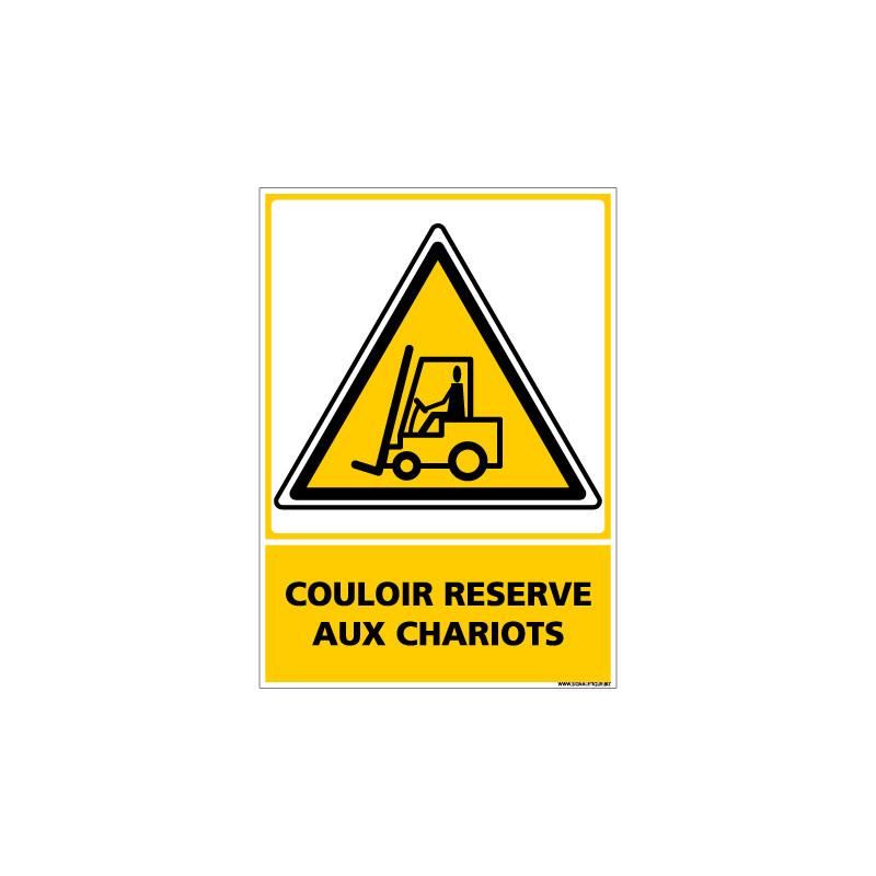 Panneau COULOIR RESERVE AUX CHARIOTS (C0574)