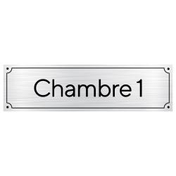 Plaque de porte pour chambre personnalisable avec un numéro (GRAV0008)