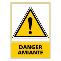 PANNEAU DANGER AMIANTE (C0582)