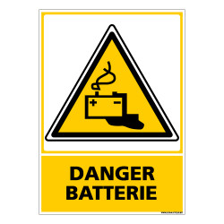 PANNEAU DANGER BATTERIE (C0587)