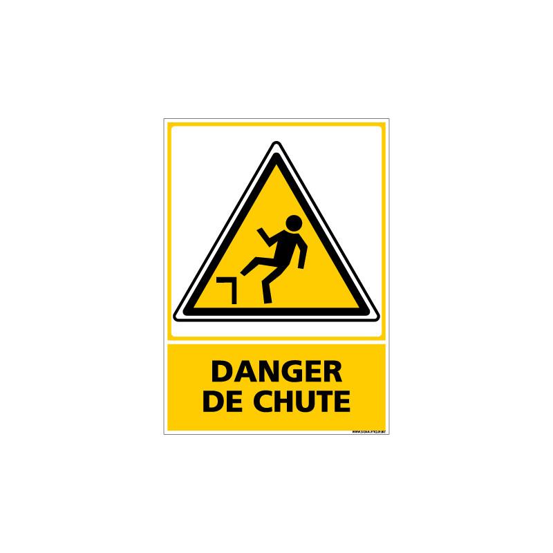Panneau DANGER DE CHUTE (C0590)