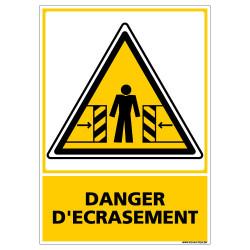 Panneau DANGER D'ECRASEMENT (C0592)