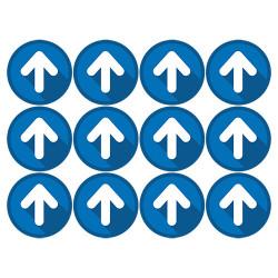 LOT DE 12 ADHESIFS SOL DE FLECHAGE SPECIAL COMMERCE COVID 19 (O0171)