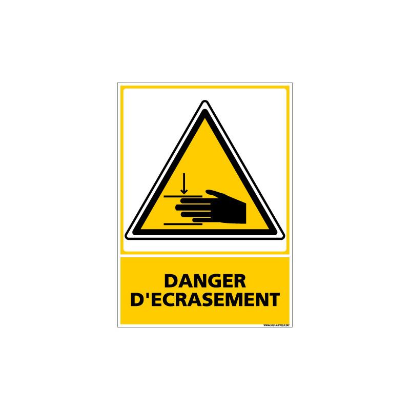 PANNEAU DANGER D'ECRASEMENT - MAINS (C0594)