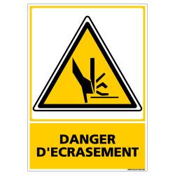 PANNEAU DANGER D'ECRASEMENT - MAINS (C0595)
