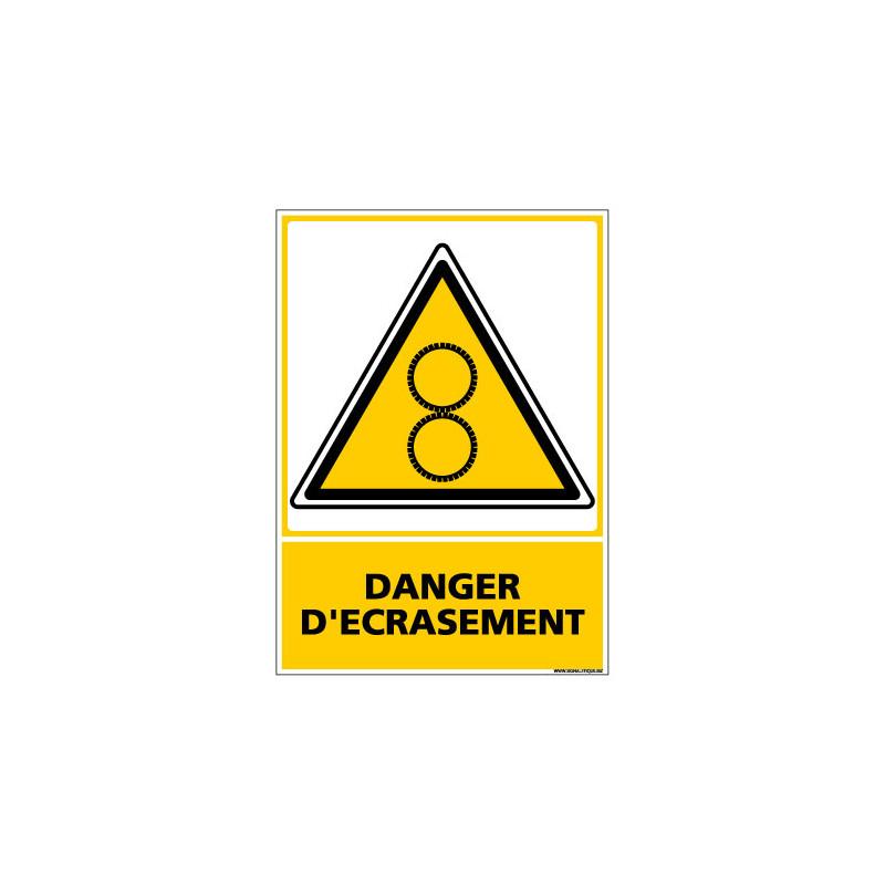Panneau de Signalisation DANGER D'ECRASEMENT (C0596)