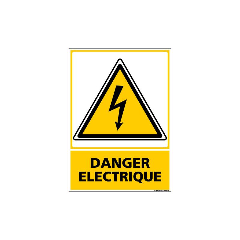 PANNEAU DANGER ELECTRIQUE (C0598)