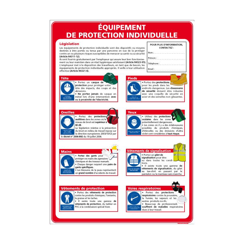 Panneau PROTECTION DES EPI (A0346)
