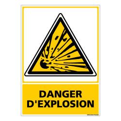 Panneau DANGER D'EXPLOSION (C0601)