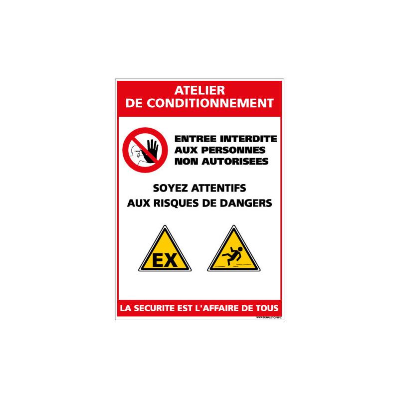 Panneau Consigne de Sécurité ATELIER DE CONDITIONNEMENT (D0926)