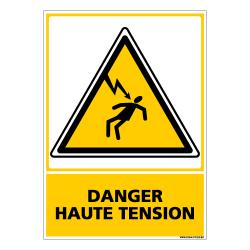 PANNEAU DANGER HAUTE TENSION (C0603)