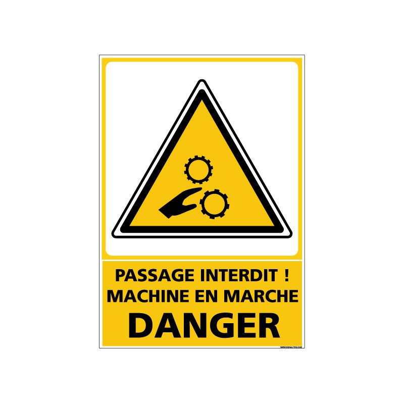 Panneau de signalisation PASSAGE INTERDIT DANGER (D0941)
