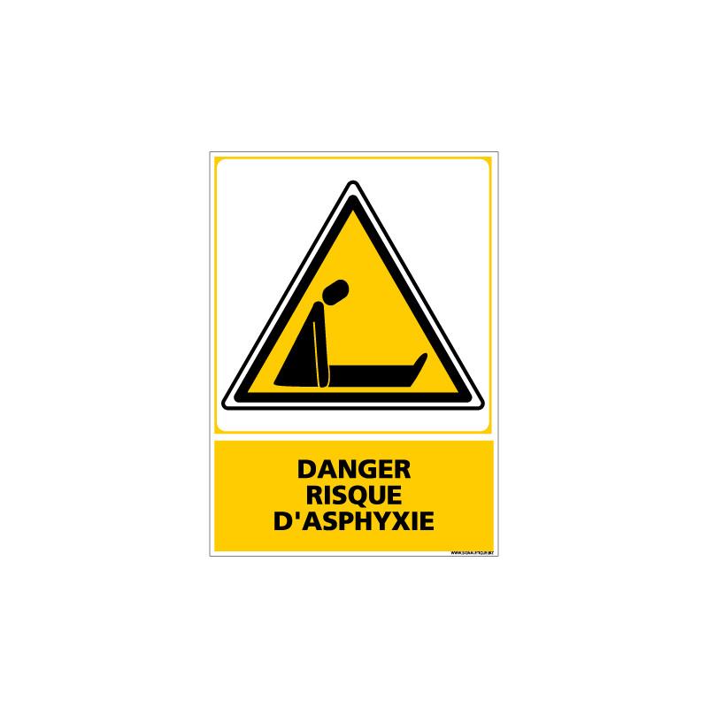 Panneau DANGER RISQUE D'ASPHYXIE (C0614)