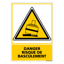 Panneau DANGER RISQUE DE BASCULEMENT (C0615)