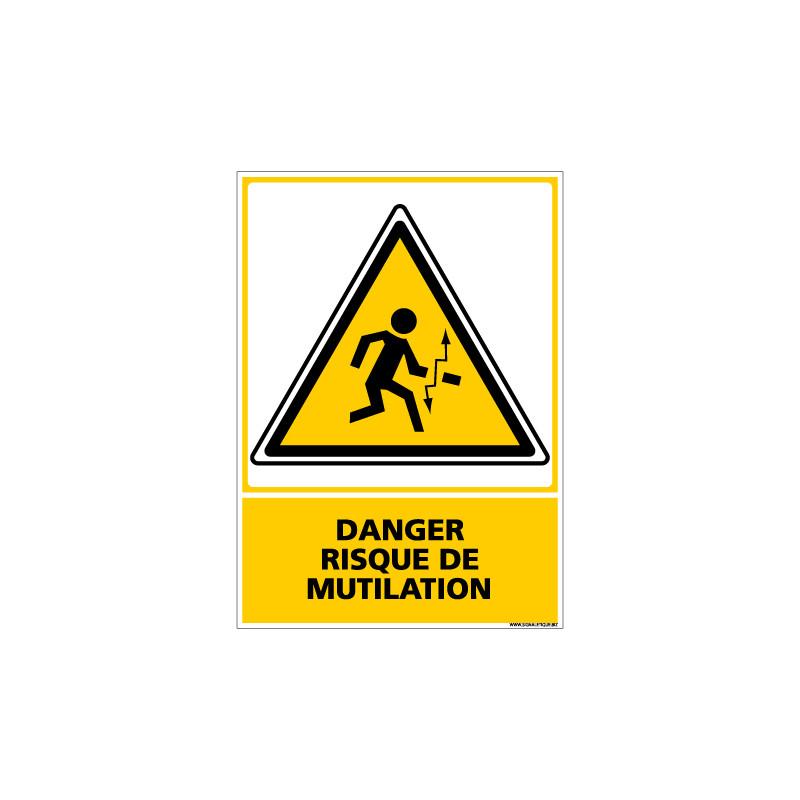 Panneau DANGER RISQUE DE MUTILATION (C0618)