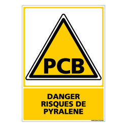Panneau DANGER RISQUE DE PYRALENE (C0620)