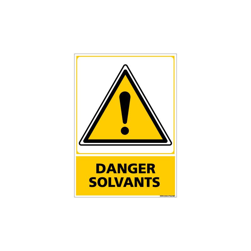 Panneau DANGER SOLVANT (C0621)