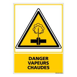 Panneau DANGER VAPEURS CHAUDES (C0623)