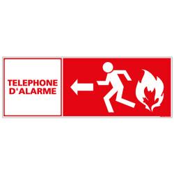 PANNEAU TELEPHONE D'ALARME (A0159)