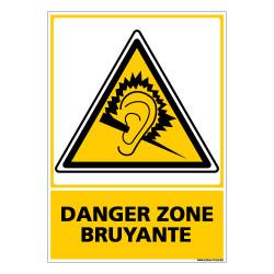 Panneau DANGER ZONE BRUYANTE (C0624)