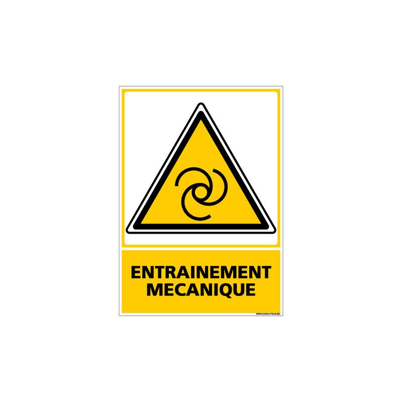 Panneau ENTRAINEMENT MECANIQUE (C0631)