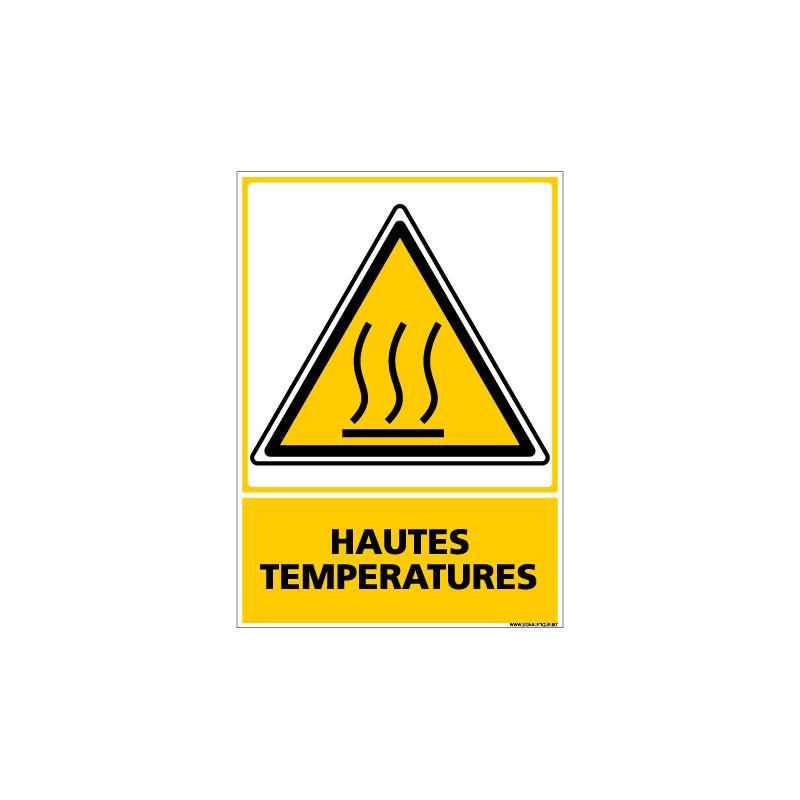 Panneau HAUTES TEMPERATURES (C0639)