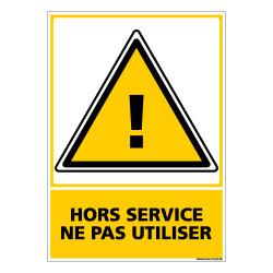 Panneau HORS SERVICE NE PAS UTILISER (C0641)