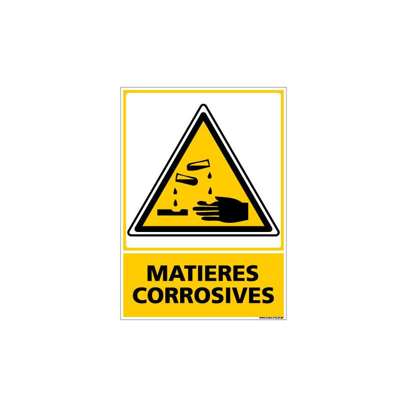 Panneau MATIERES CORROSIVES (C0647)