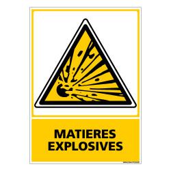 Panneau MATIERES EXPLOSIVES (C0648)