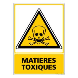 Panneau MATIERES TOXIQUES (C0652)