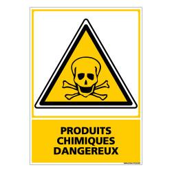 Panneau PRODUITS CHIMIQUES DANGEREUX (C0663)