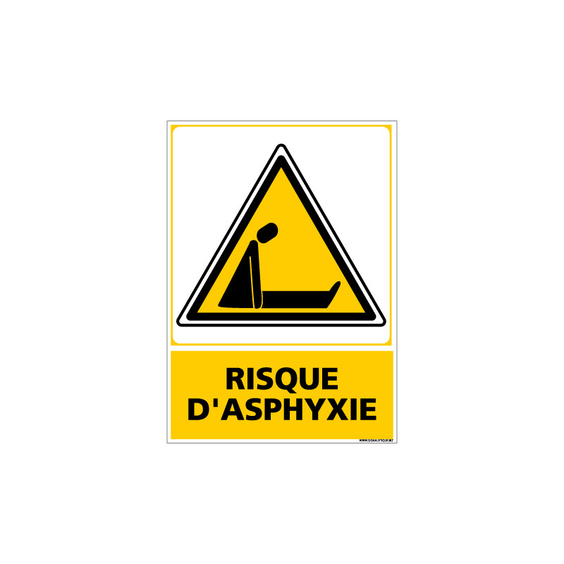 Panneau RISQUE D'ASPHYXIE (C0671)