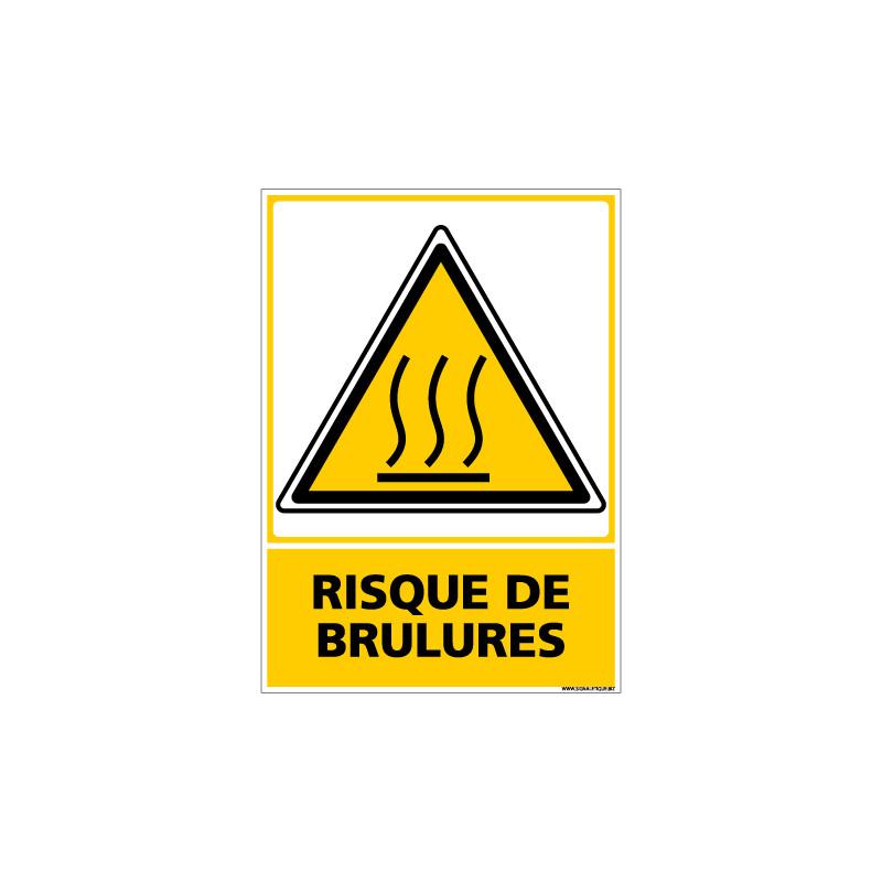Panneau RISQUE DE BRULURES (C0675)