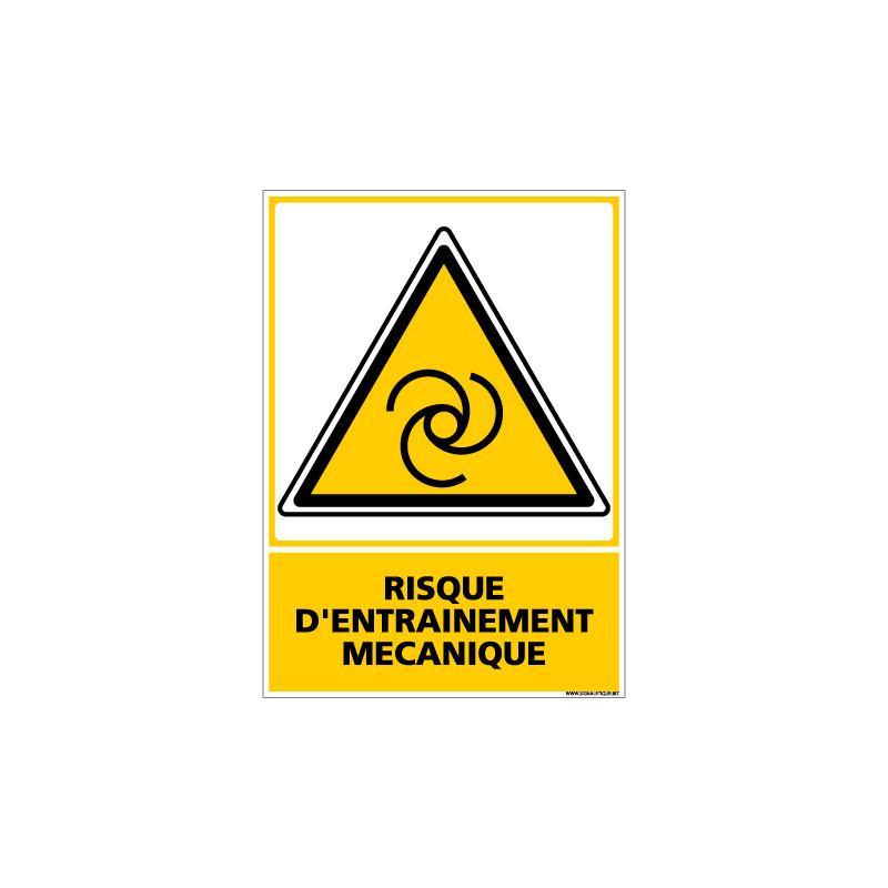 Panneau RISQUE D'ENTRAINEMENT MECANIQUE (C0677)