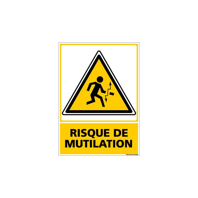 Panneau RISQUE DE MUTILATION (C0678)